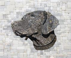 Mosaic dog - Roberto Centazzo  - Stone Folio - Natural Stone & Marble Mosaics