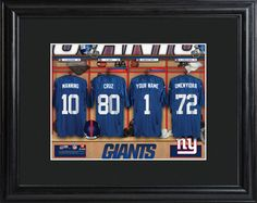 New York Giants Locker Room Photo