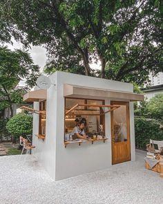 Cafe Shop Design, Coffee Shop Interior Design, Kiosk Design, Coffee Design, Store Design, Cafe Restaurant, Restaurant Design, Mini Cafe, Small Coffee Shop