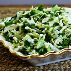 Recipe for Val's Sweet Cabbage Slaw with Green Onion and Parsley from Kalyn's Kitchen
