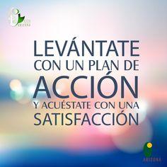 Levántate con un plan de Acción y acuéstate con una Satisfacción. #frasedeldia #frasemotivadora #cucuta #colombia #motivacion