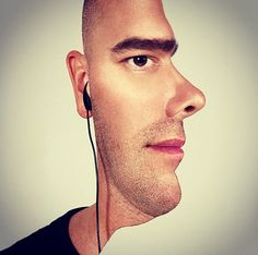 Optical Illusion Photo Combines Side and Front Profile Shots to ...