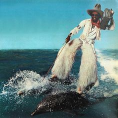 George Clinton riding some dolphins. What else do you really need? Photo: Michael Ochs (Promo art for The Motor Booty Affair album) 1978.
