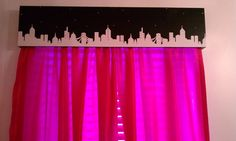 Window treatments by Jen AND Will!!!! This is for a New York/Paris themed girls room.