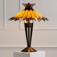 art glass lamp