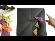 Radial Origami Relief Sculpture-Creating - YouTube