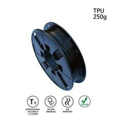 Black LEE FUNG 1.75mm TPU 3D Printing Filament Dimensional Accuracy // 0.05 mm 2.2 LB Spool DIY Material Tools