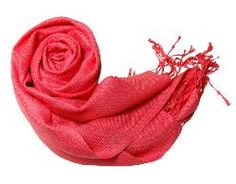 Fashion Peach Couture Solid Pashmina Soft Brand Name Wrap Scarves