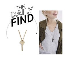 """""""Daily Find: The Giving Keys Pendant Necklace"""" by polyvore-editorial ❤ liked on Polyvore featuring moda, The Giving Keys e DailyFind"""