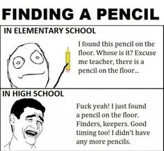 Finding A Pencil - funny images