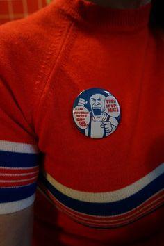 oi! record badge pinback button