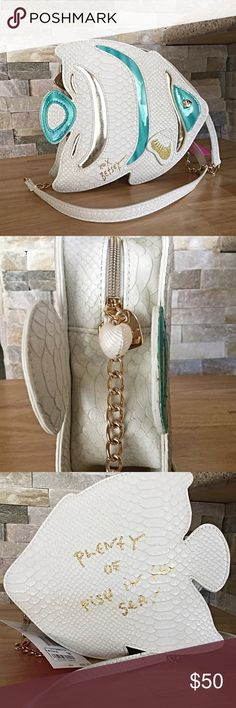 Betsey Johnson crossbody fish bag. NWT Plenty of fish in the sea! This bag is super cute. Betsey Johnson crossbody fish bag NWT. Great Priice!!! Betsey Johnson Bags Crossbody Bags