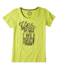 Life is Good:registered: Chartreuse Green Yes We Can Creamy Scoop Neck Tee | zulily