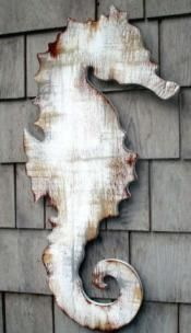 sea horse. wonderful wall display for  beach cottage....