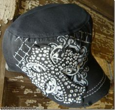 Dublin Cross and Rhinestone Cap Cowgirl Western Hat