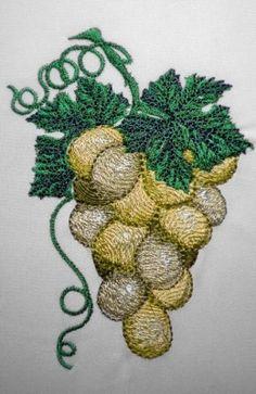 Grape machine embroidery design