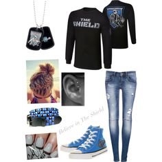 """""""Shield Outfit"""" by alyclairmusiclover84 on Polyvore Wrestling Outfits, Wwe Outfits, Camo Prom Dresses, Wwe Shirts, Other Outfits, Wwe Divas, What To Wear, My Style, Wwe Stuff"""