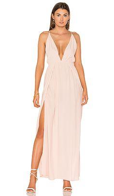 Low Plunge Maxi Dress