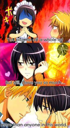 The story of Usui and Misaki <3    Anime : Kaichou wa maid-sama