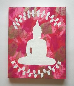 Diy Painting Canvas Decor Hippie Bohemian Buddha Inspired Acrylic Canvas Painti On Bedrooms Easy Wall Decor Art Painting Ideas Diy Canvas Painti Art Buddha, Buddha Kunst, Buddha Canvas, Canvas Wall Decor, Diy Canvas Art, Canvas Ideas, Art Diy, Diy Wall Art, Budha Painting