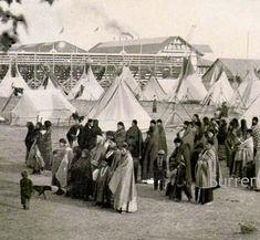 Indian Encampment 1895 USA Vintage Native American History Rotogravure