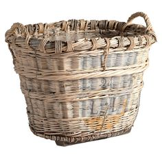 french antique champagne basket . . . from one of my favorite shops - red ticking . . .