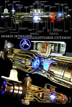 Lightsaber Cutaway--Turn into line drawing and blue with white lines Lightsaber Parts, Lightsaber Design, Custom Lightsaber, Lightsaber Hilt, Star Wars Jedi, Star Wars Art, Star Trek, Cutaway, Anakin Skywalker Lightsaber