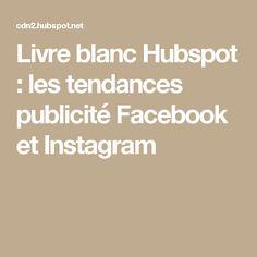 Livre blanc Hubspot : les tendances publicité Facebook et Instagram