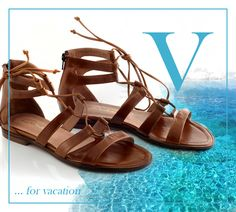 Get ready for vacation. Flat Sandals, Flats, Spring Summer 2015, Shoe Collection, Summer Shoes, Vacation, Leather, Blue, Fashion