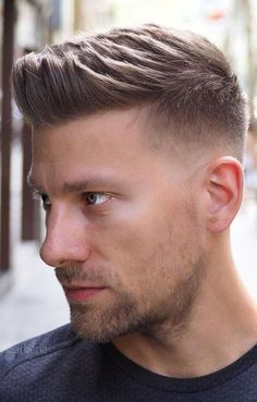Short Hair Styles For Round Faces, Short Hair Cuts, Medium Hair Styles, Curly Hair Styles, Short Hair Styles Men, Men Haircut Short, Mens Fade Haircut, Short Quiff, Bun Styles