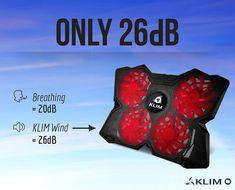 KLIM Wind Laptop-PC Kühler – Leistungsstark wie kein anderer – Schneller Kühlvorgang - 4 Lüfter Belüfteter Notebookständer Gamer Gaming Stützhalterung ( Schwarz und Rot )  EUR 24,90