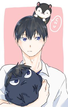 Kags is love. Kags is life Hinata, Haikyuu Kageyama, Haikyuu Manga, Haikyuu Fanart, Manga Anime, Fanarts Anime, Anime Guys, Anime Art, Kagehina