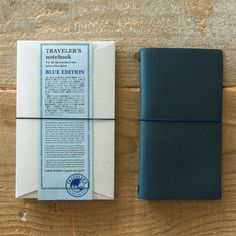 Midori Traveler's Notebook Leather Journal Blue Edition - Omoi Zakka Shop