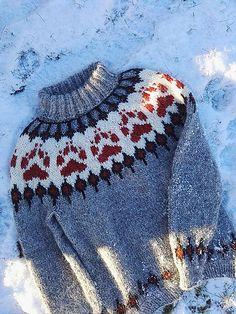 Villmarksgenseren (The Wilderness Sweater) pattern by Linka Karoline Neumann Hand Knitted Sweaters, Sweater Knitting Patterns, Baby Sweaters, Knitting Designs, Knit Patterns, Knitted Hats, Fair Isle Knitting, Hand Knitting, Norwegian Knitting