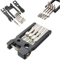핫! 최고 판매 고품질 19 1 육각 키 드라이버 렌치 자전거 자전거 도구 수리 도구 키트 세트