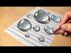 Drawing Water Drops on Line Paper - How to Draw 3D Drops - VamosART - YouTube
