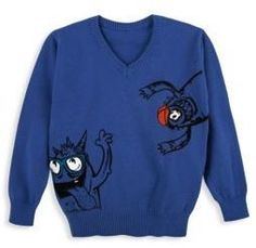Andy & Evan Toddler's, Little Boy's & Boy's Blue Monsters Cotton Sweater