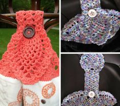 [Free Pattern] Clever And Beautiful Crochet Pineapple Towel Topper - Knit And Crochet Daily Crochet Towel Tops, Crochet Towel Holders, Crochet Dish Towels, Crochet Kitchen Towels, Crochet Dishcloths, Crochet Flower Patterns, Crochet Stitches Patterns, Crochet Ideas, Crochet Projects