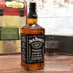 An amazing 1 Litre bottle of Jack Daniels personalised whisky which is engraved with your personal message, a fantastic gift for Jack Daniels lovers.