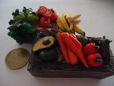 huacales de frutas y verduras para el pesebre