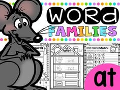 CVC Word Family 'AT' No Prep Phonics Printables FREEBIEPlease enjoy this Word Work 'AT'  freebie which is a sample of some of the…