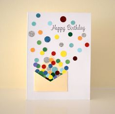 A mini-balloon punch would be perfect for this card .... balloons floating out of the envelope with birthday wishes!