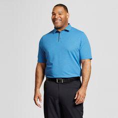 Men's Big & Tall Pique Golf Polo - C9 Champion - Summer Sky Blue Heather 4XBT, Size: 4XB Tall