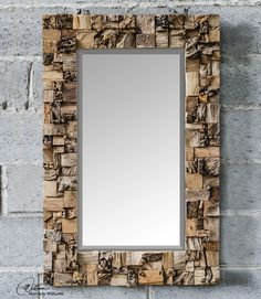Uttermost Thatcher Teak Root Mirror 05031