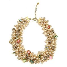Gold & Multicolor with Faux Pearl