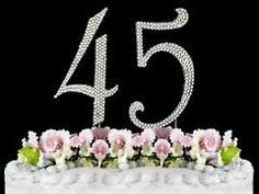 Image result for birthday cakes for 45th birthday