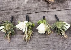 white flower boutonnière | Photo by Lauren Ross | 100 Layer Cake