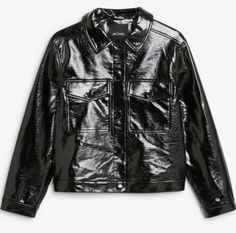Monki faux leather jacket