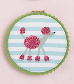 Poodle Doodle Hoop - pattern avalable in Issue 36 of Love Sewing Free Pattern Download, Love Sewing, Dressmaking, Poodle, Decorative Plates, Hoop, Sew Dress, Poodles, Frame