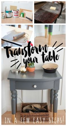 Transform an old, outdated table into a gorgeous beauty with a bit of paint some DIY know-how! Follow along to get the look.